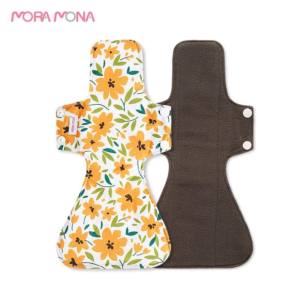 Мора Мона, моющаяся прокладка для кормления, Бамбуковая менструальная прокладка, многоразовая гигиеническая прокладка 5 шт. недорого