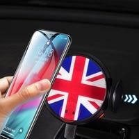 Беспроводной Зарядное устройство автомобиля держатель интеллигентая (ый) Инфракрасный мобильный телефон Подставка для MINI Cooper R55 R56 R57 аксес...