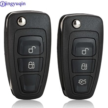 Jingyuqin Remote Key Fall Shell Für Ford Ranger 2011 2012 2013 2014 2015 2 Taste HU101 FO21 Schlüssel Klinge EB3T-15K601-BA 5WK50165