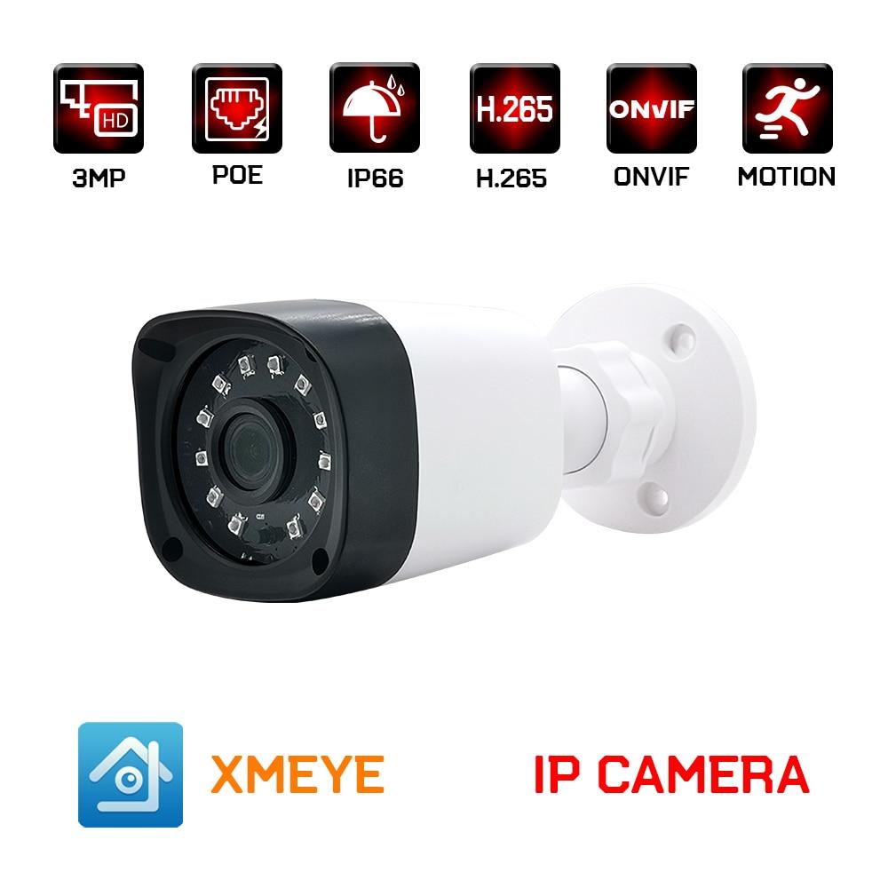 IP-камера видеонаблюдения, 1080P, 3 Мп, h.265, POE, 2 МП