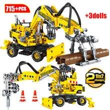Bricolage technique voiture blocs de Construction ville ingénierie camion modèle Construction chariot élévateur véhicule briques éducation jouets pour les enfants