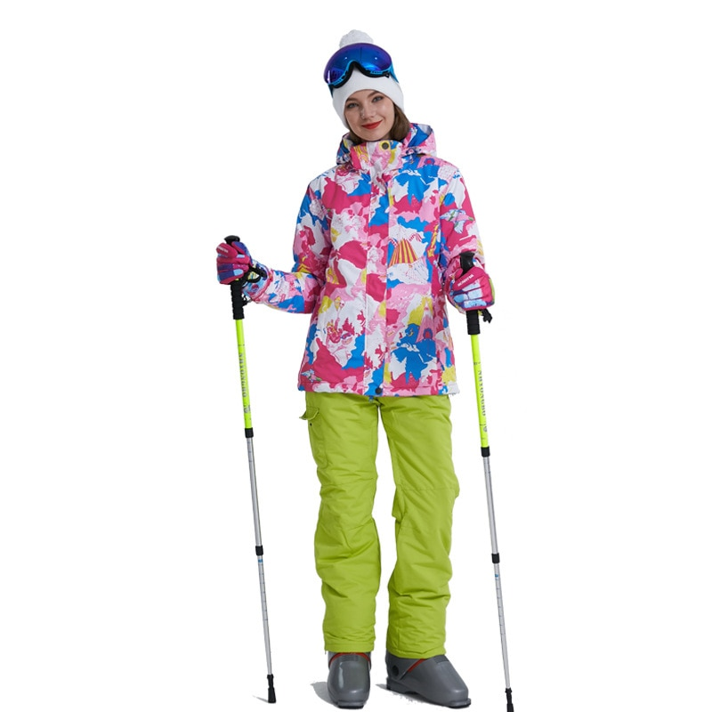 New Color Thick Warm Ski Suit Women's Windproof Waterproof Outdoor Snow Jackets And Pants Ski Suit And Snowboard Wear Brand