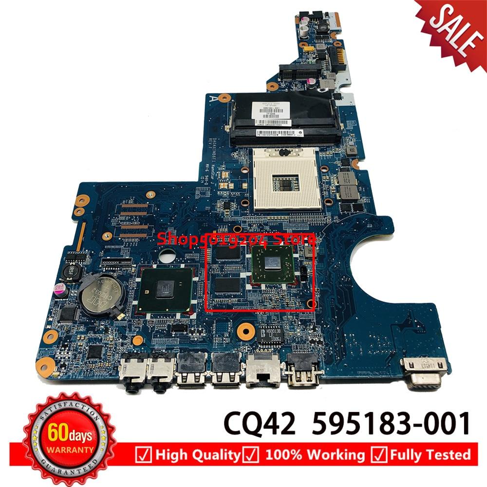 DA0AX1MB6F1 HM55 595183-001 اللوحة الأم ل HP CQ42 G62 G42 G72 CQ62 اللوحة المحمول