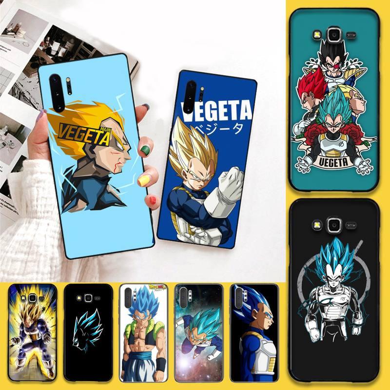 Dragon Ball Super Vegeta IV DIY Impresión de cubierta de la caja del teléfono para Samsung Nota 7 8 9 10 pro Galaxy J7 J8 J6 Plus 2018