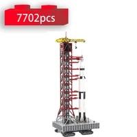 moc 60088 launch tower mk i for saturn v with crawler model remote control rocket building blocks creative bricks toys for kids