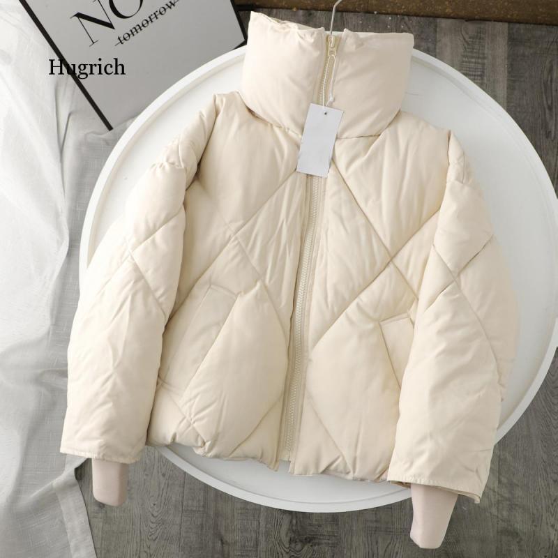 معطف نسائي شتوي, معطف باركا نسائي شتوي كبير الحجم 2021 جديد مقاوم بسحاب جيوب نسائي دافئ قصير جاكيت منفوخ معطف قطن خارجي