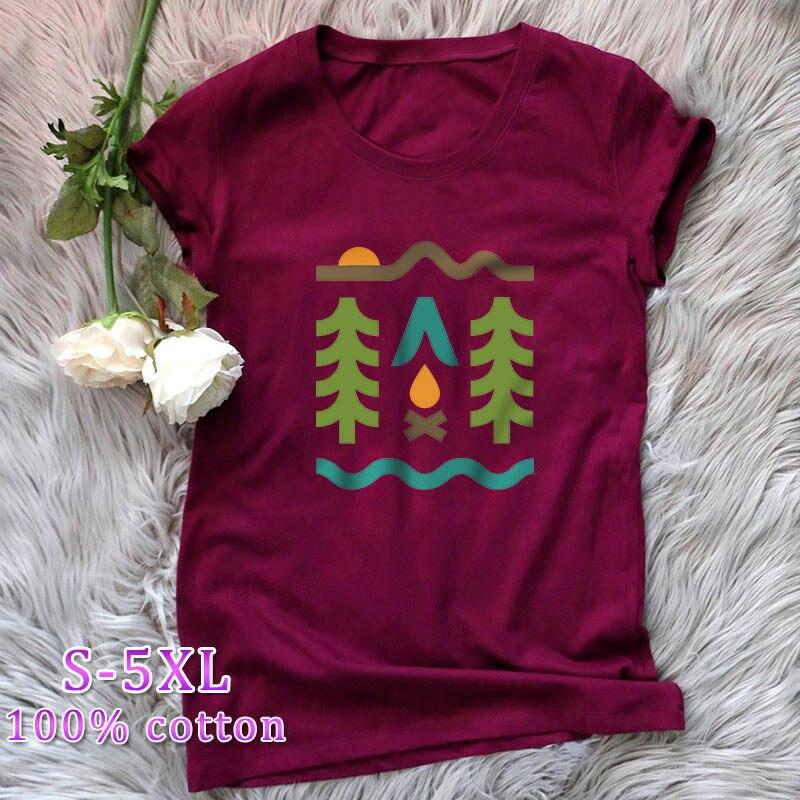 Harajuku t camisa feminina lazer engraçado acampamento impressão camiseta 90s gráfico grunge tshirt moda ullzang streetwear topo t feminino