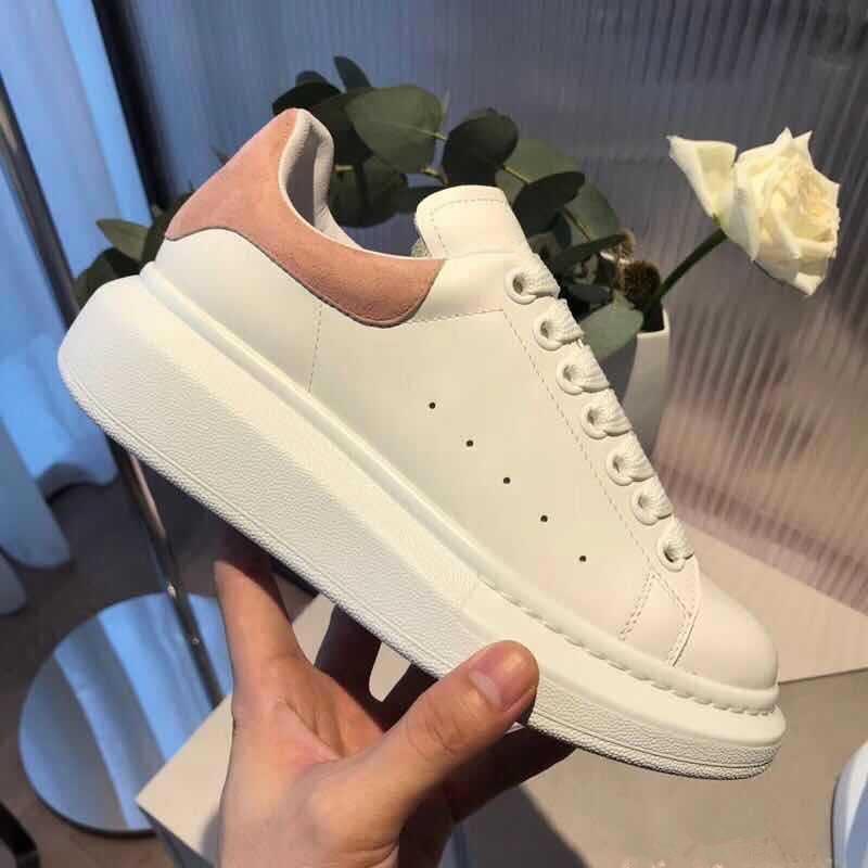 أحذية فاخرة عادية الرجال أحذية رياضية الدانتيل يصل منصة حذاء أبيض حذاء تنس فلكنيز