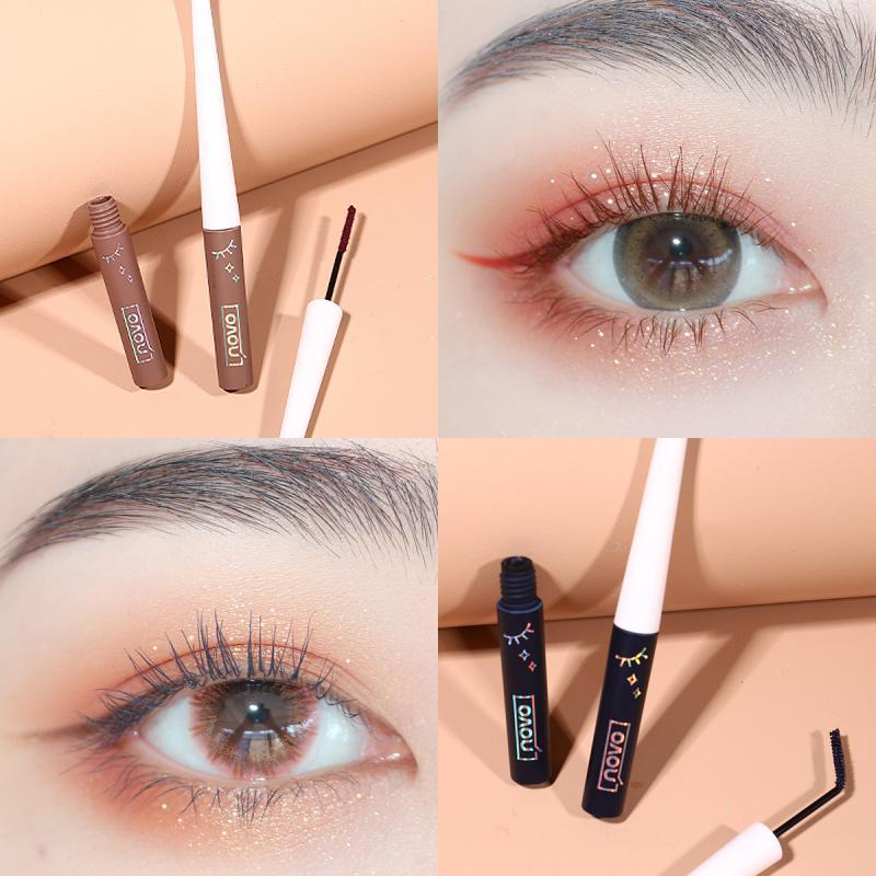 Mascara Small Tube Slim Brush Curling Thick Natural Makeup No Smudging Eyelash Styling Cream Long Lasting beauty Cosmetics TSLM1