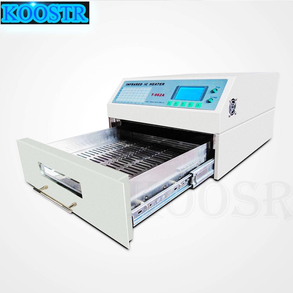 Orignal PUHUI T-962A Desktop Reflow Solder Oven with Infrared IC Heater BGA PCB SMT Rework Solution Machine