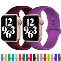 Ремешок для часов Apple Watch band 44 мм 40 мм series 6 SE 5 4 3 iWatch BAND 42 мм 38 мм, силиконовый браслет для Apple watch band 44 мм