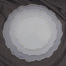 3Pcs Cake Stand Silicone Molds For Epoxy Resin Set Coaster Tea Tray Mold DIY Pottery Handmade Tools