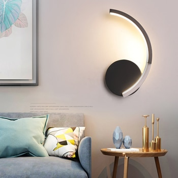 Modern minimalist wall lamp iron acrylic wall lamp LED living room bedroom study lamp creative fashion interior lighting