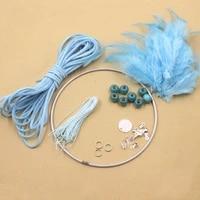 useful diy crochet feather dream catcher kit hanging decoration wall ornament uk