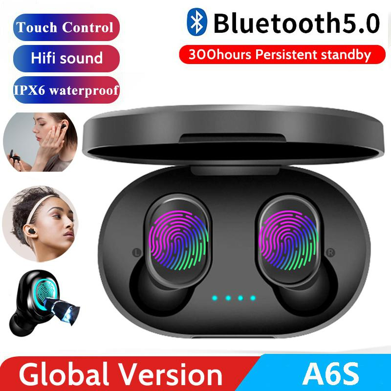 Acekool A6S-auricular TWS, inalámbrico por Bluetooth 5,0, auriculares universales con reducción de ruido y micrófono para teléfono móvil r35