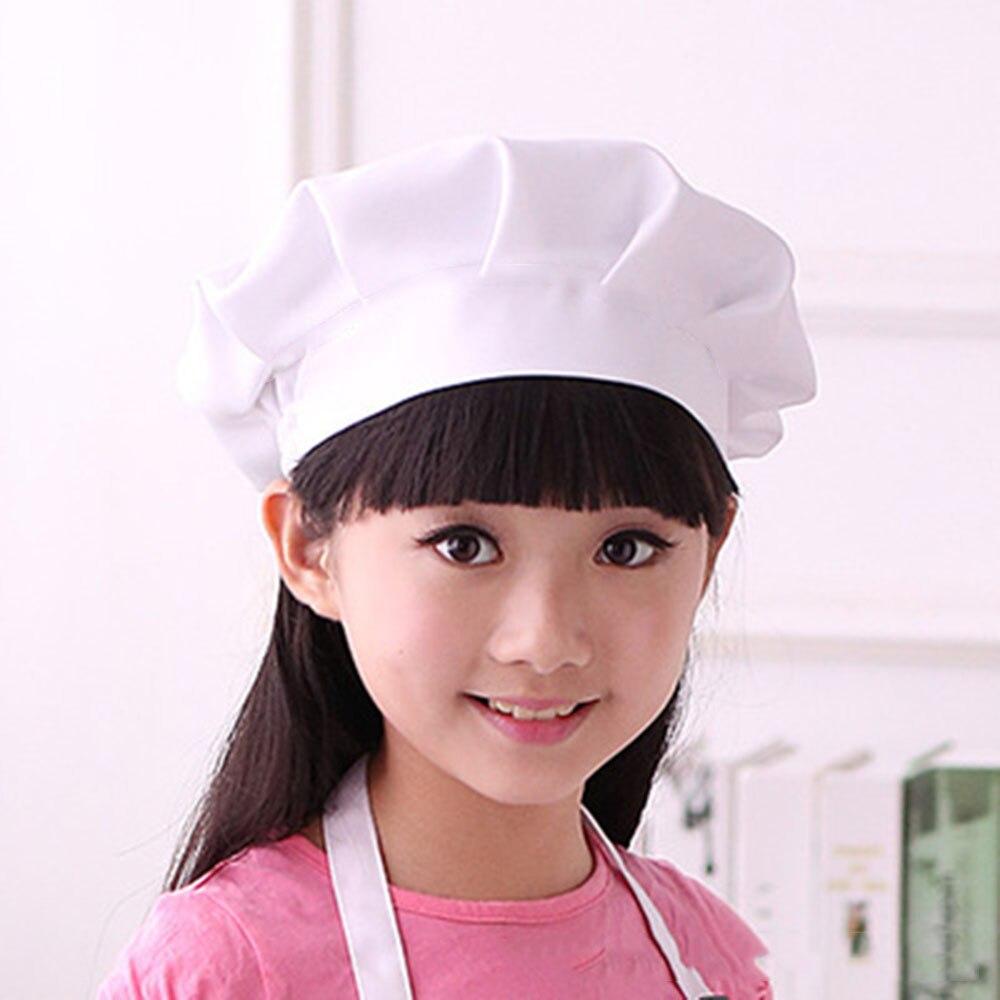 Baby Kid White Chef Hat Kitchen Children Toy Cooking Play Supplies Set Chef Set Elastic Cap For Part