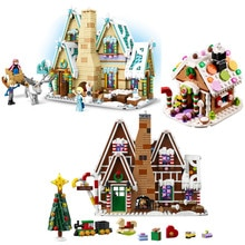 2020 City Creator Winter Village Holiday Scene Gingerbread House Santa Claus Elk Building Blocks Bricks Kids Toys Gift 10267