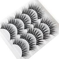 3d false eyelashes natural soft three dimensional multi layered long thick eyelashes extensions beauty makeup tools 5 pairs
