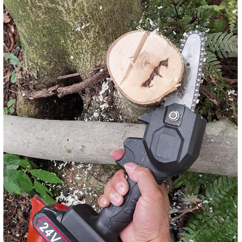 Portable Electric Pruning Saw Electric Saws Woodworking Electric Saw Garden Logging Mini Electric Chain Saw Lithium Battery enlarge