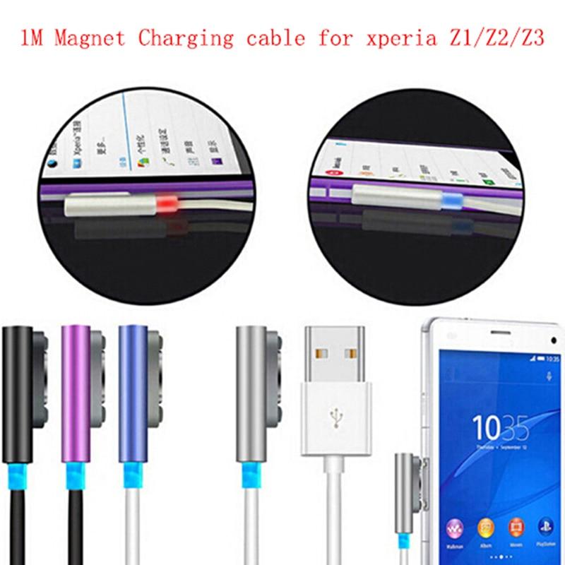 Cable cargador magnético USB para Xperia Z3 Z2 Z1 Mini XL39 L55H...