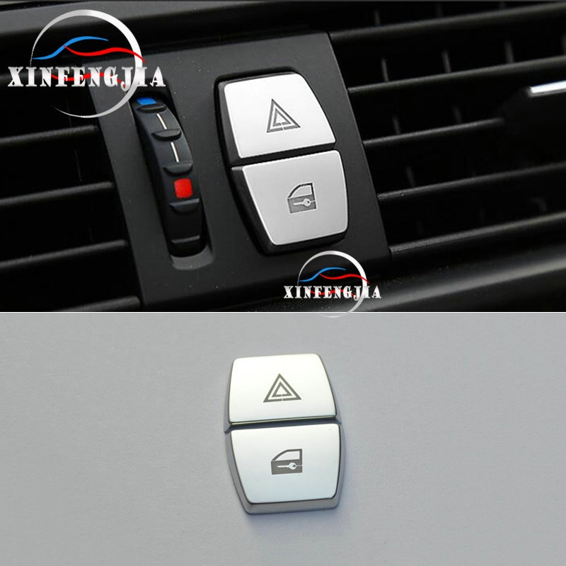 Para BMW 5 5 5 6 6 7 Serie F10 F11 F07 X3 F25 2x cromo advertencia de seguridad tapa de botón trim