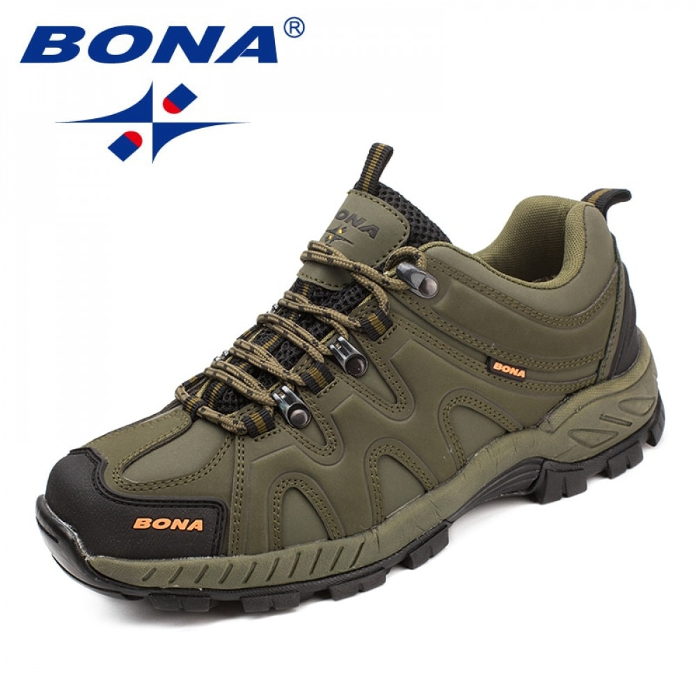 BONA New Arrival Classics Style Men Hiking Shoes Lace Up Men Sport Shoes Outdoor Jogging Trekking Sn