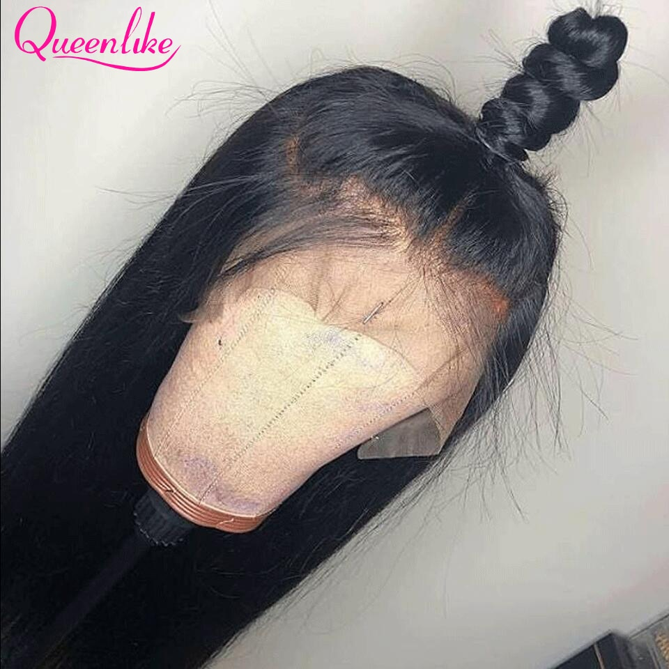 13x6 Lace Frontal Wig For Black Women Human Hair Wigs 30 38 40 Inch Long Brazilian Straight Hair Bone Straight Lace Frontal Wig