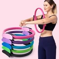 quality yoga pilates ring magic wrap slimming body building training heavy duty ppnbr material yoga circle 5 colors