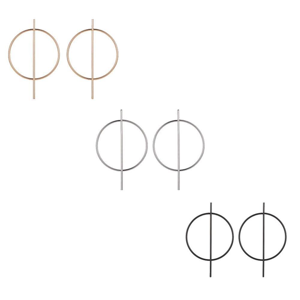 AliExpress - Circle Hoop Earrings for Women Geometric Hollow Round Bar Stick Dangle Statement Earrings Drop Ear Girls Jewelry Fashion
