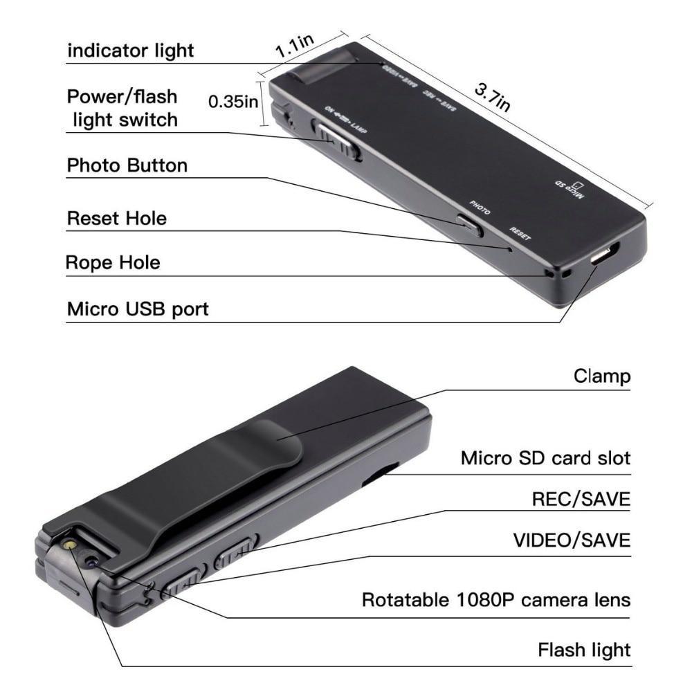 Vandlion A3 Mini Digital Camera HD Flashlight Micro Cam Magnetic Body Camera Motion Detection Snapshot Loop Recording Camcorder enlarge
