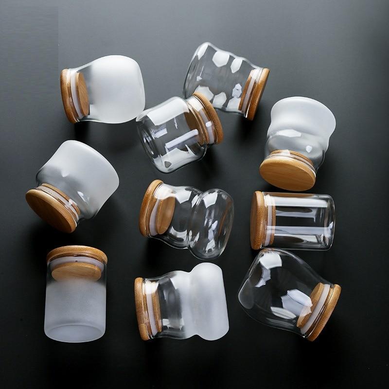 Фото - Mini Glazen Flessen Met Deksel Clear Transparant Glas Container Met Kurk Thee Snoep Voedsel Opslag Containers Glazen Pot Met платье met met me486ewapjy9
