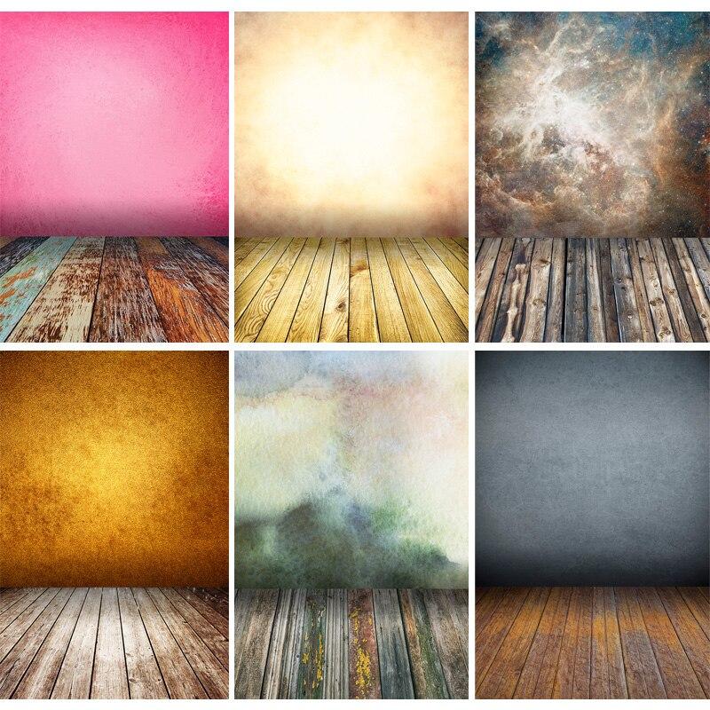 Винтаж градиент сплошной Цвет задники для фотосъемки кирпичная стена деревянный пол детского портрета фото Фоны 210125MB-30