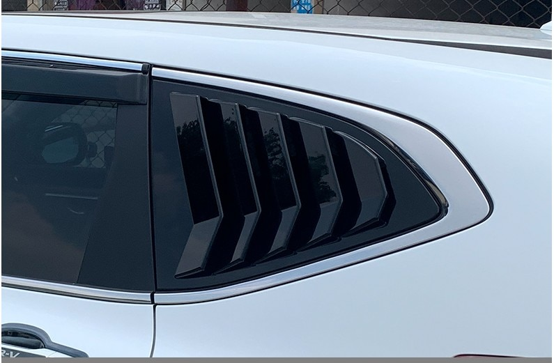 For Honda CR-V CRV 2017 2018 2019 Rear Fender Side Window Blind shades Louver Frame Window Sill Molding Cover Sticker Trim