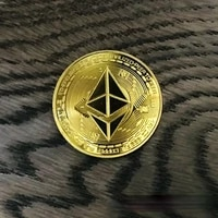 ETH Gold Sliver Plated Patterned Ethereum Bitcoin Embossed Stereo Bitcoin Digital Currency Coin Physical Commemorative Bit Metal
