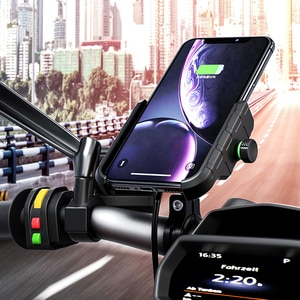 Motorcycle Wireless Charger QC3.0 With USB Fast Charging for Smartphone Holder Handlebar RearMirror Mount Universal for iPone SE