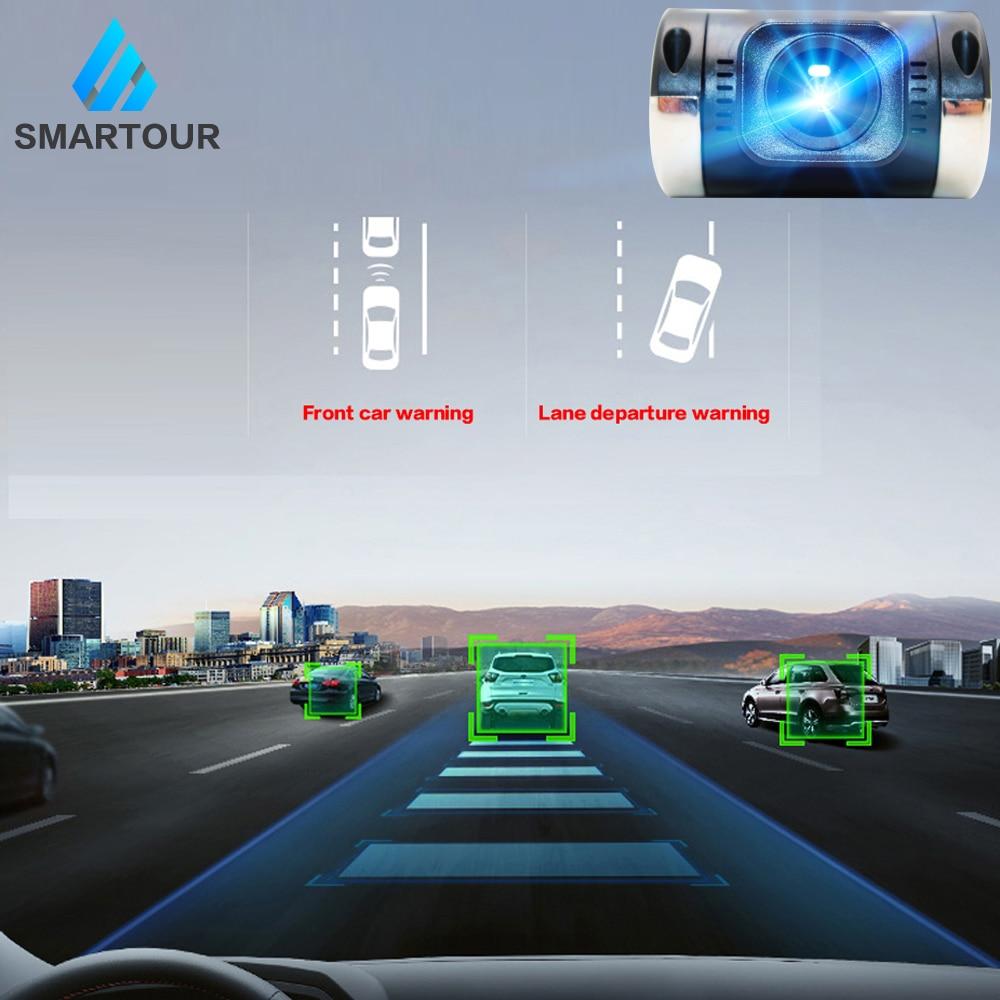 Smartour 1080P ADAS DVR para coche con USB cámara de salpicadero Camcorder Video Recorder conectar a reproductor DVD Android para el coche de visión nocturna