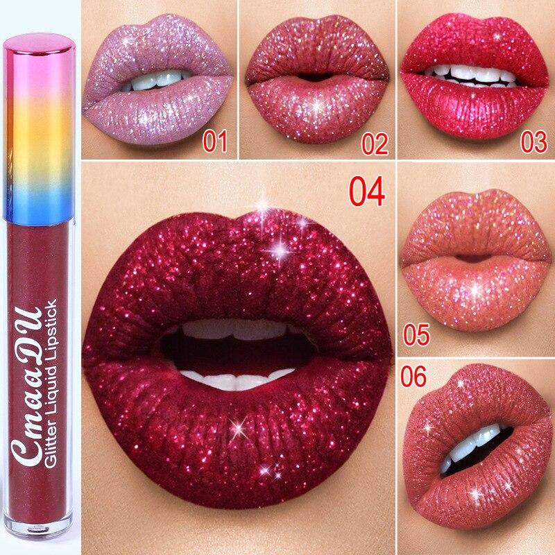 Cmaadu Diamant Symfonie Shiny Matte Lippenstift Metalen Lipgloss Lippenstift