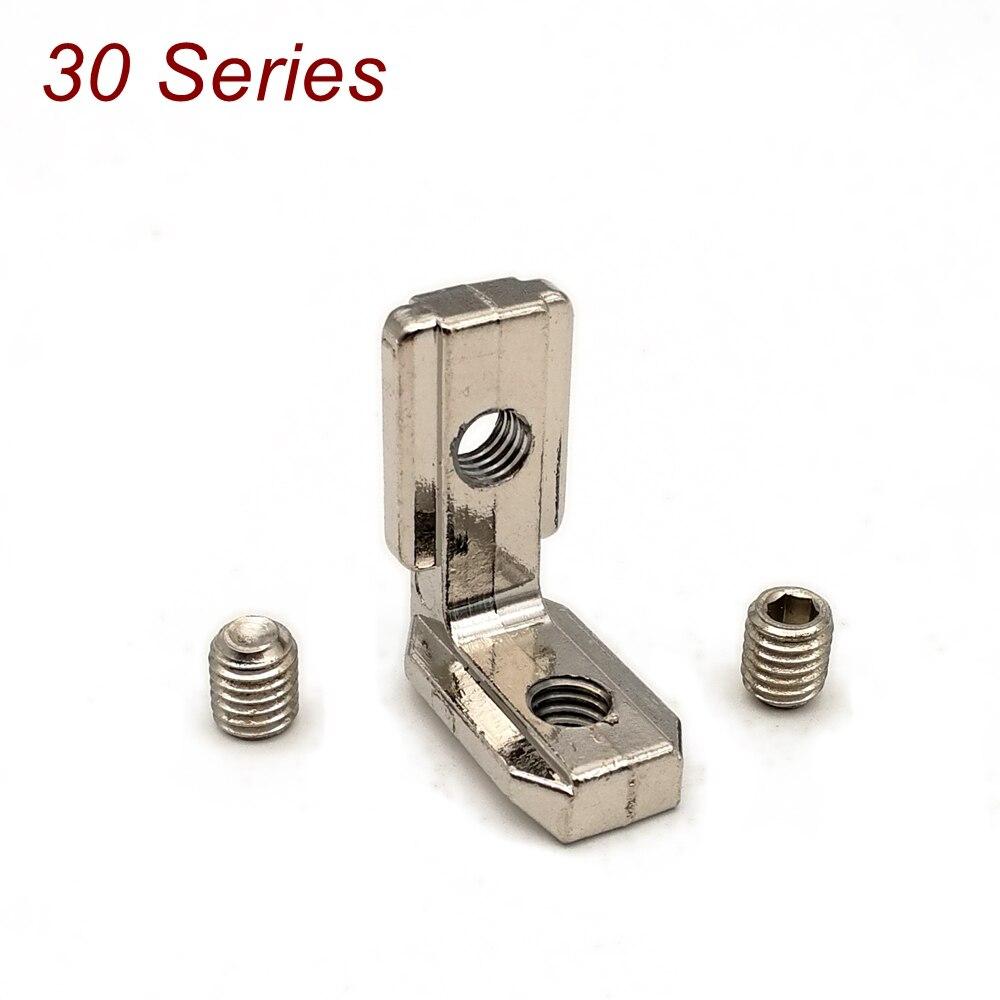 Soporte de articulación Interior, con juego de tornillos, conector para perfil de aluminio, ranura en T, soporte en ángulo de aluminio, 3030
