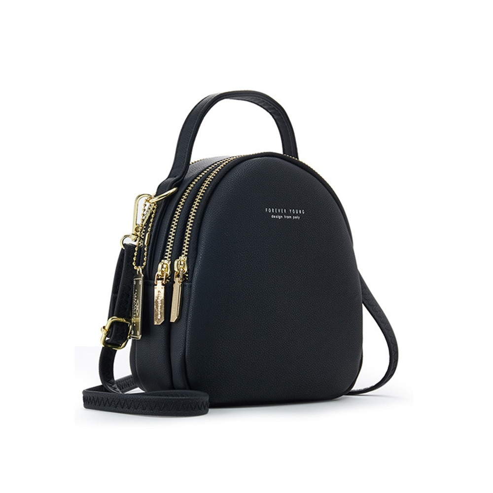 Big Capacity 3 Layer Women Backpack Fashion Small Backpack Ladies Shoulder Crossbody Bag Soft Leather Female Bag рюкзак женский