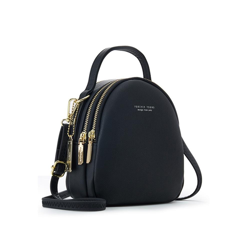 Big Capacity 3 Layer Women Backpack Fashion Small Backpack Ladies Shoulder Crossbody Bag Soft Leather Female Bag рюкзак женский