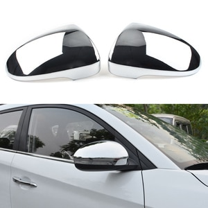 For Hyundai Tucson 2015 2016 2017 2018 2019 Auto Door Side Rear View Mirror Trim ABS Chromium Styling Cover 1Pair