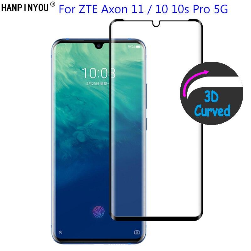 Para zte axon 11 10s pro 10pro 5g 9 h ultra fino 3d curvado capa completa frente filme de vidro temperado protetor de tela