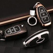 Luminous Zinc alloy Car Remote Key Cover Case For Ford Fiesta Focus 2 3 MK2 MK3 Mondeo MK4 Ecosport Kuga Escape Explorer Ranger