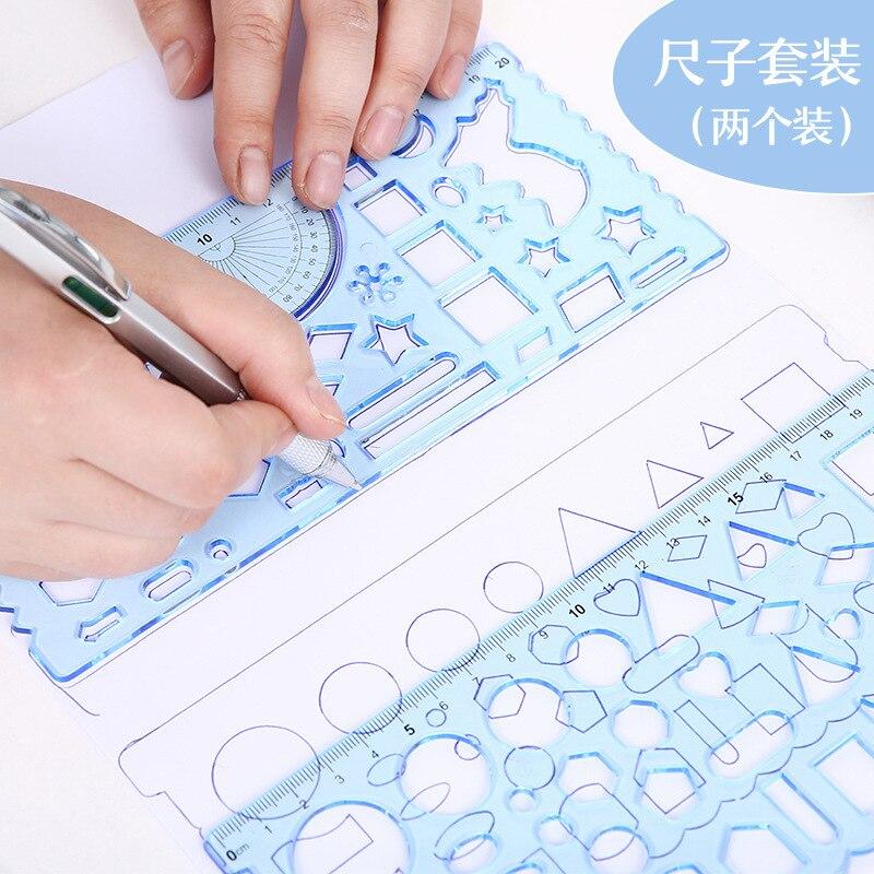 2 шт./компл. необычная Веселая Канцелярия Tangram для начальной школы многофункциональная картина-головоломка «сделай сам» шаблон-линейка