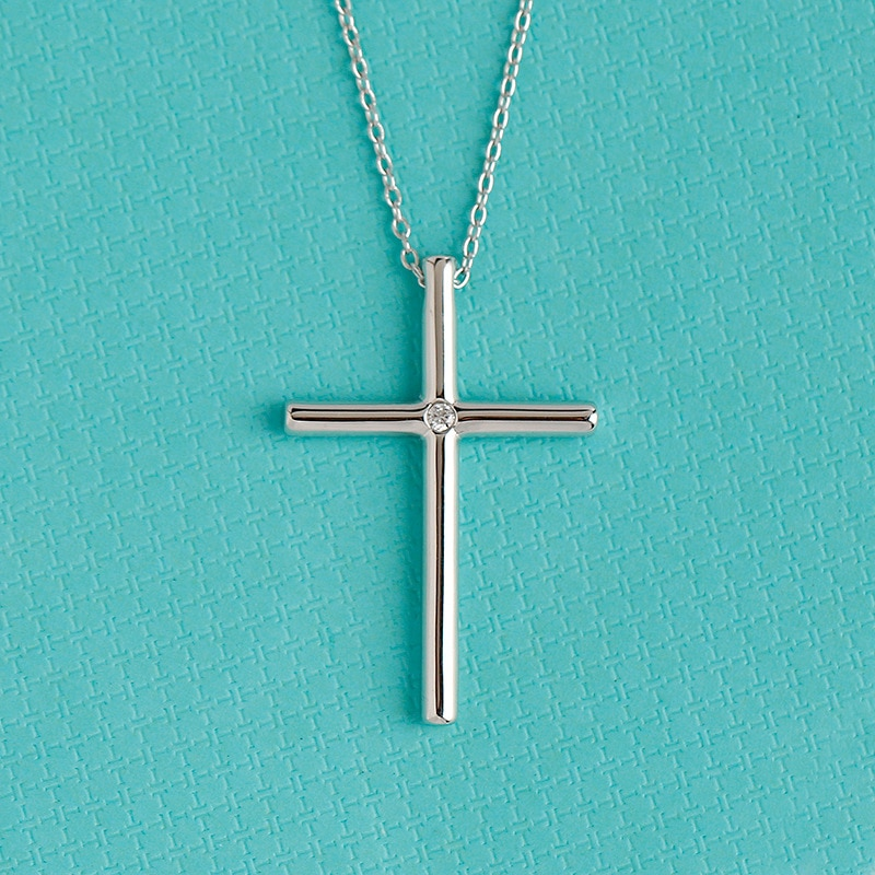 s925 sterling silver Cross Religious Pendant Necklace Guardian Jewelry Gift