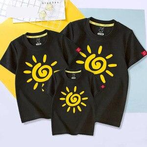 Одинаковая семейная одежда с солнечным светом, 1 шт., футболки для мамы, дочки, мамы и меня, семейные наряды