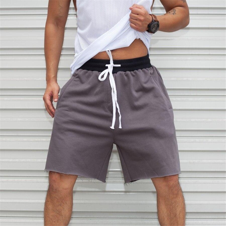 Шорты-карго мужские хлопковые, уличная одежда, повседневные свободные короткие штаны-карго для фитнеса, 2021