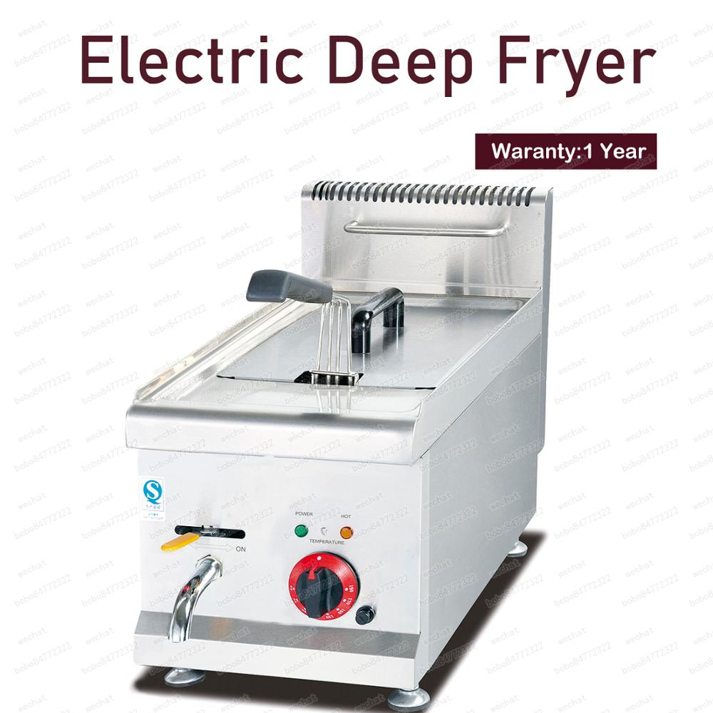 Fritadeira profunda elétrica das microplaquetas de batata do único tanque 3800 w para a corrente rápida do alimento