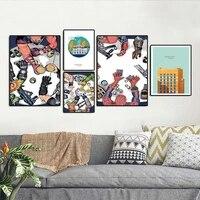 Affiche dart mural de decoration pour la maison  peinture sur toile imprimee  images decoratives pour salon  tendance de mode abstraite