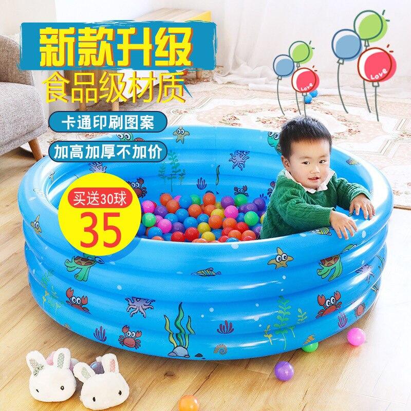 Piscina infantil Intime, piscina de baño de bebé, piscina para niños, océano, piscina, cerca, casa, juego circular, juego de arena en la piscina